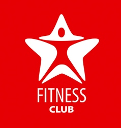 logo man star for fitness club vector image