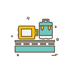 luggage icon design vector image
