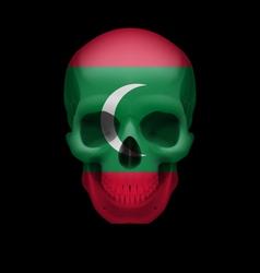 Maldivian flag skull vector