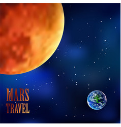 Mars and earth sky background eps file vector