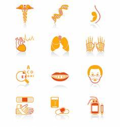 Medicine icons juicy series vector