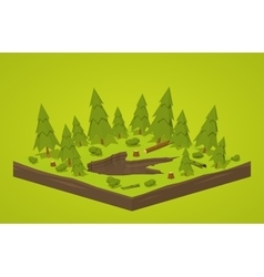 Monster footprint in the forest vector