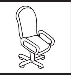 office chair doodle icon isolated on white vector image