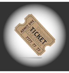 Old teathre ticket in projector light vector