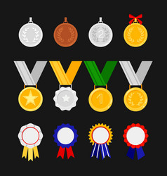 orders and medals isolated on black vector image