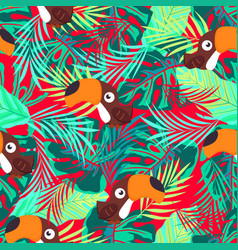 pattern abstract toucan vector image