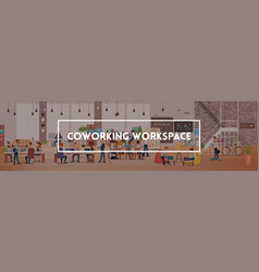 people work in office coworking workspace vector image