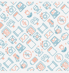 photography seamless pattern vector image