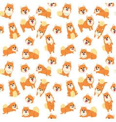 Pomeranian seamless pattern vector