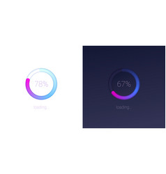 Progress loading for mobile apps icons vector