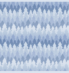 seamless winter pattern of fir trees vector image