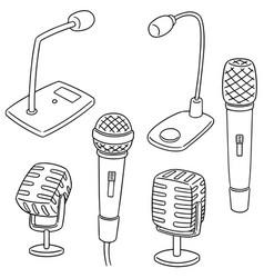 Set of microphone vector