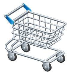 Shopping trolley icon vector