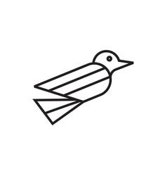 simple bird flying logo vector image