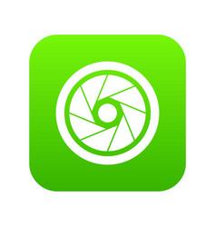 Small objective icon digital green vector
