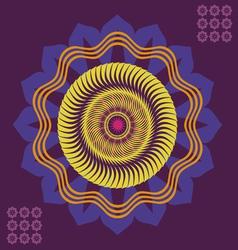 spring floral meditation poster vector image