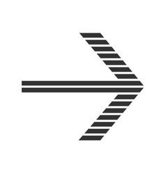 Striped arrow glyph icon forward indicator right vector