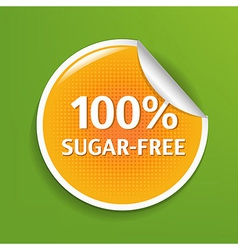 Sugar Free Label vector