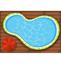 Swimming pool and umbrella vector image