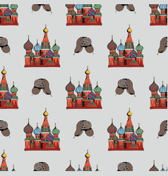 Traditional symbols of russia hand drawing vector