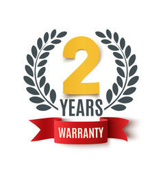 Two years warranty background vector