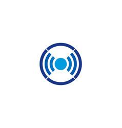 Wifi letter o logo icon design vector