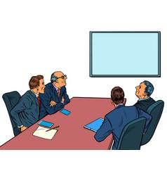 Working business meeting in meeting room vector