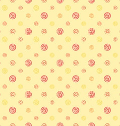 Yellow warm abstract polka dot fabric seamless vector