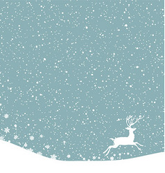 Christmas postcard background with white deer vector image