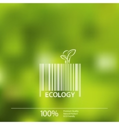 Ecology barcode symbol on blurry background vector image vector image