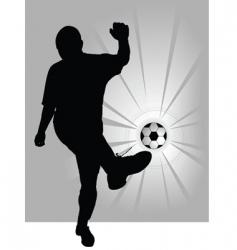 football player symbol vector image vector image