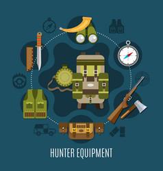 hunter equipment concept vector image vector image