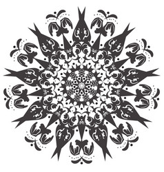 mandala flower bird fairy art vector image