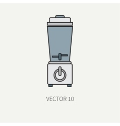 Line color kitchenware equipment icons vector image vector image