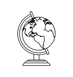 Pictogram globe map world earth business icon vector