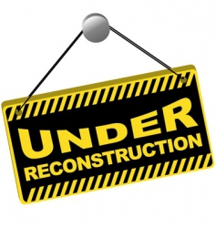 under reconstruction sign vector image