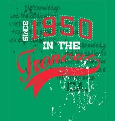 vintage sports design vector image