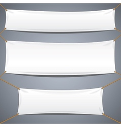 White Textile Banners Advertising Template vector image vector image