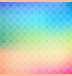abstract colorful geometric rainbow background vector image vector image
