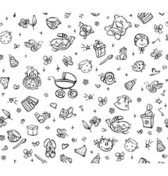 baby pattern vector image vector image