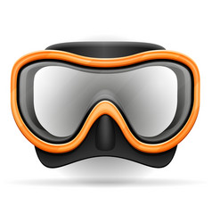 diving mask stock vector image vector image