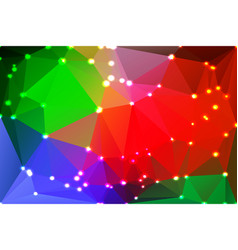 Green blue orange red geometric background with vector