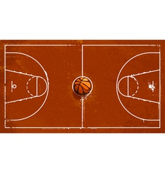 Grunge basketball playground vector image vector image