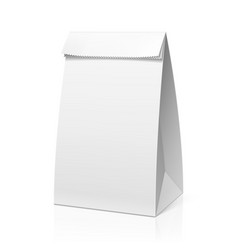Recycle white paper bag vector image