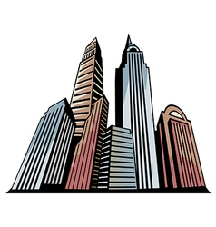 Skyscrapers Art vector image