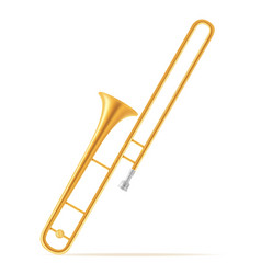 trombone wind musical instruments stock vector image vector image