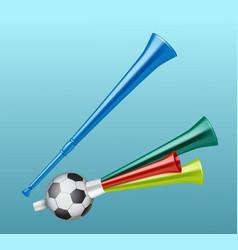 trumpet football fan vector image vector image