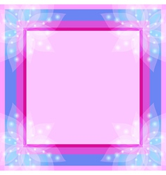 Abstract floral decorative frame vector image