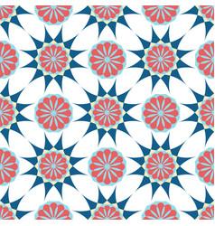 Arabic ornament geometric floral pattern textile vector