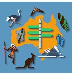 australia travel vector image